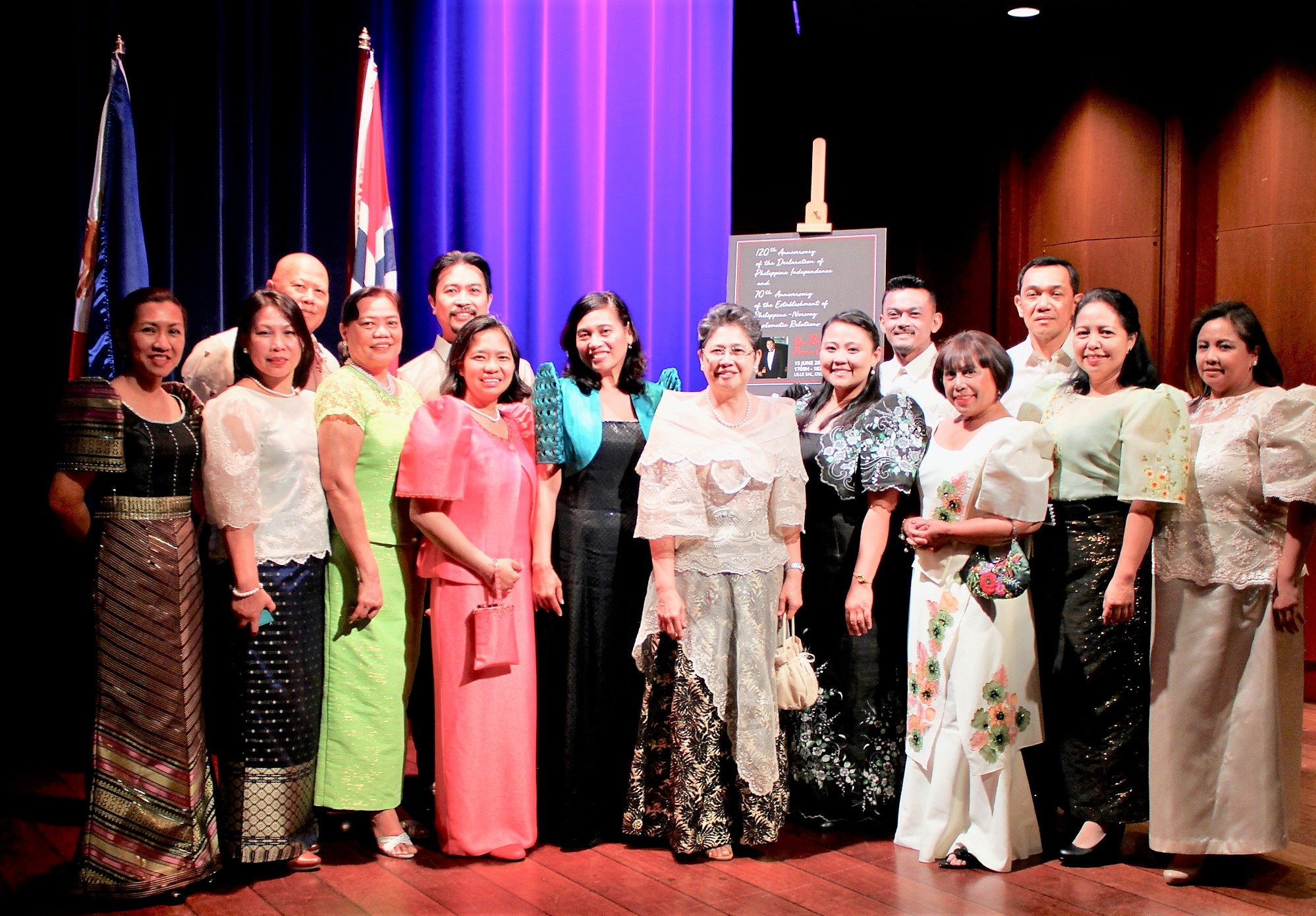 Ambassador Jocelyn Batoon-Garcia, with officers and personnel of the Philippine Embassy in Oslo