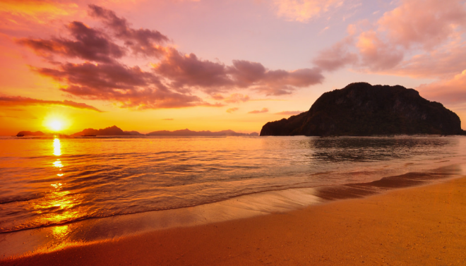 Sunset at El Nido Palawan