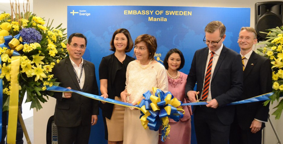 The Embassy of Sweden reopened its doors in Manila