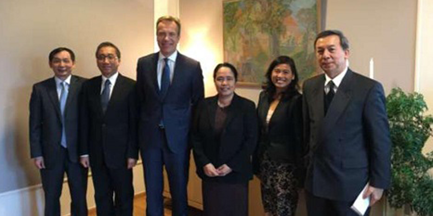 ASEAN committee in Oslo meets with Norway's Foreign Minister Brende