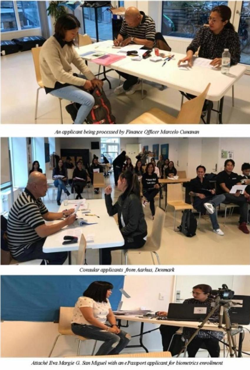 Philippine Embassy in Norway Conducts Consular Outreach Services in Aarhus, Denmark