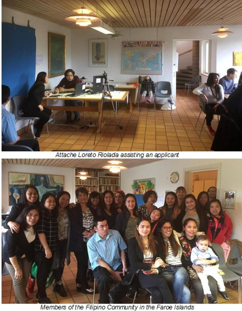 Philippine Embassy in Norway Conducts Overseas Voting Registration and Consular Mission in Torshavn, Faroe Islands.