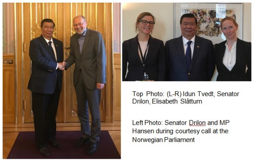 Senator Franklin Drilon Visits Oslo