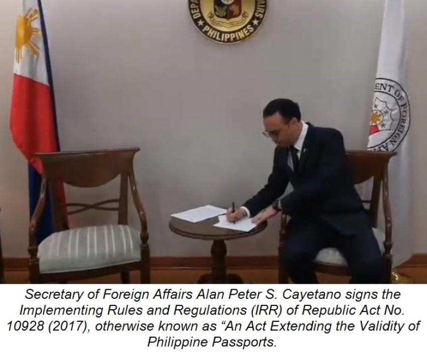 DFA Issues Implementing Rules on Ten-Year Philippine Passports