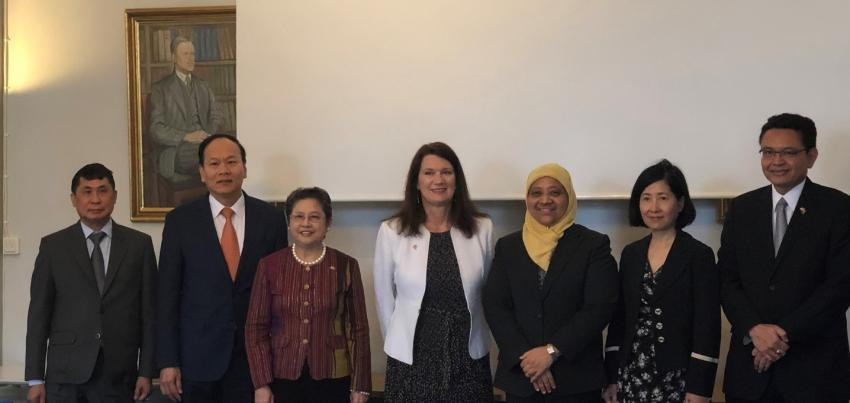 ASEAN Ambassadors and Swedish Minister for Trade Ann Linde Look Forward to Enhanced Economic Cooperation between ASEAN and Sweden