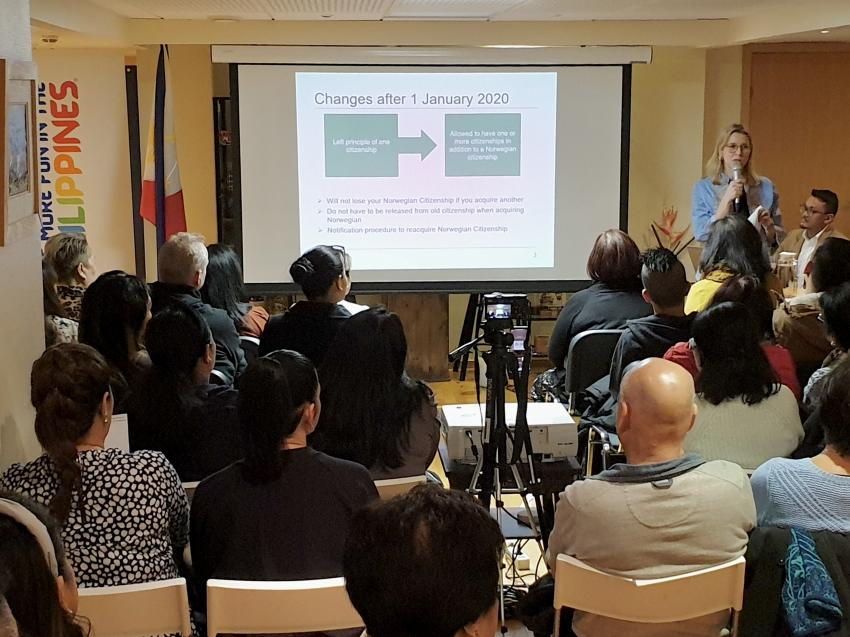 Philippine Embassy, Norwegian Directorate of Immigration Brief Filipinos on New Dual Citizenship Rules