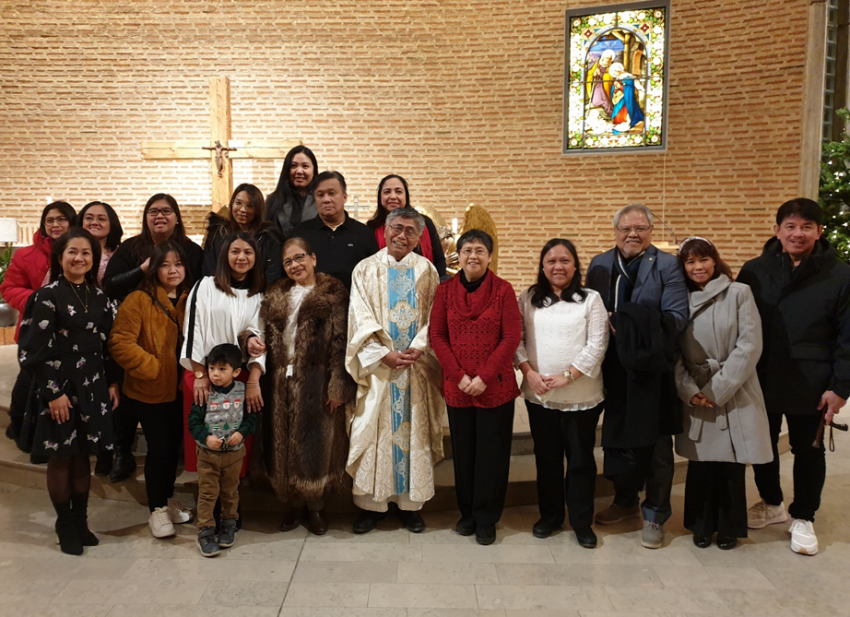 Philippine Ambassador Attends Mass with FilCom in Stockholm