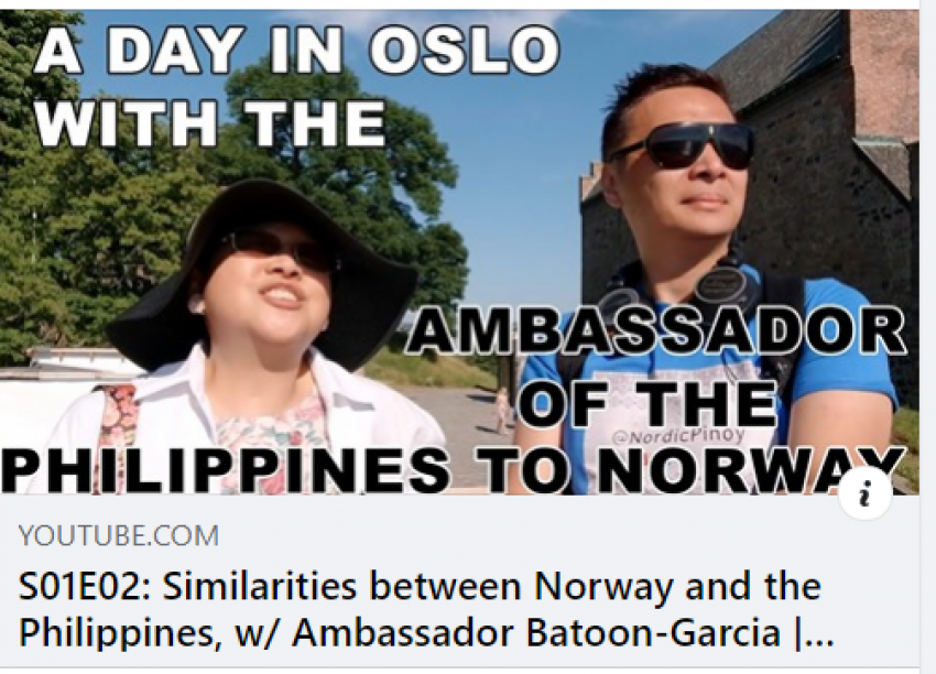 Ambassador Jocelyn Batoon-Garcia's Interview with NordicPinoy Channel