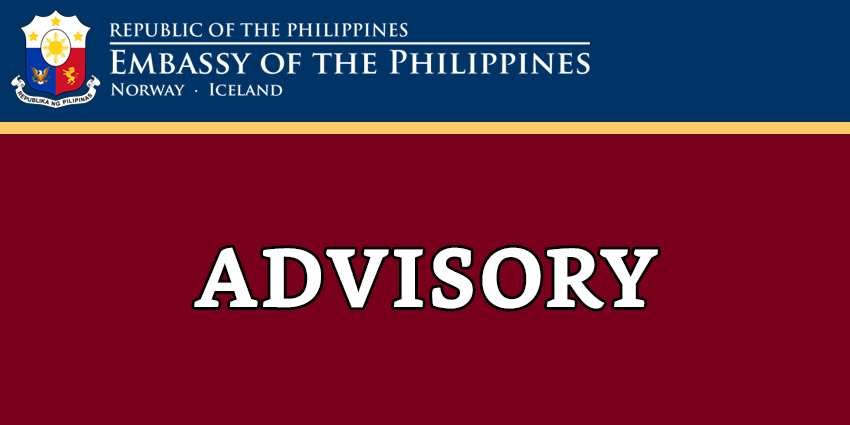 ADVISORY ON THE EMBASSY'S OPENING HOURS