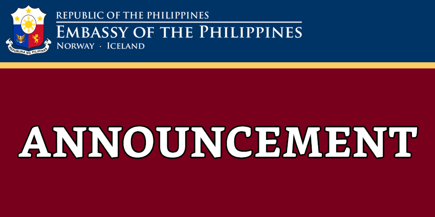 ANNOUNCEMENT ON FINANCIAL DONATIONS FOR VICTIMS OF TYPHOON OMPONG