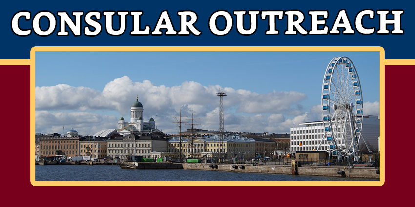 CONSULAR OUTREACH IN HELSINKI, FINLAND ON 05-07 JULY 2019