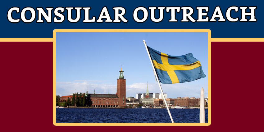 Consular Outreach in Stockholm on 27-29 April 2018