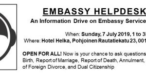 Embassy Helpdesk: LIVE at the Consular Outreach in Helsinki, 7 July 2019