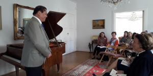 Renowned Pianist Dr. Raul Sunico Holds Mini-Concert with the Museum Group