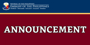 ADVISORY: Closure of the Philippine Consulate in Helsinki for the summer