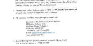 REQUEST FOR QUOTATION - PHOTOCOPIERS FOR THE EMBASSY