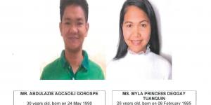 Public Notice of Application to Marry - Gorospe, Abdulazis A. and Tuanquin, Myla Princess D.