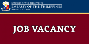JOB VACANCY: EMBASSY DRIVER